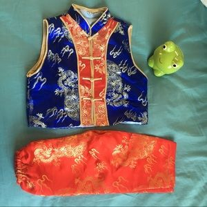 Other - Red Blue and Gold Chinese Boy Costume